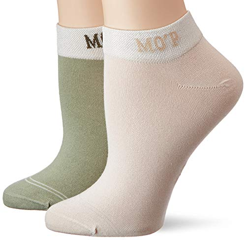 Marc O'Polo Body & Beach Damen Legwear W-Sneaker Socks 4-Pack Füßlinge, Grün (Mint 708), 39/42 (Herstellergröße: 403) (4er Pack)