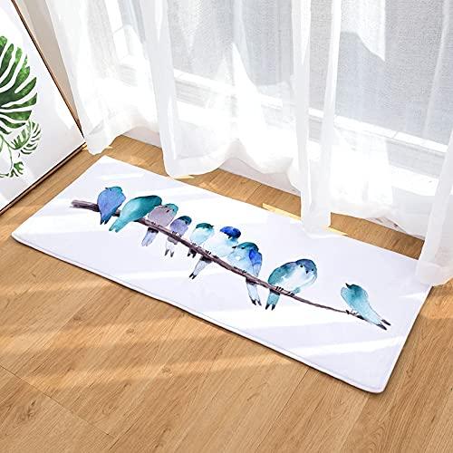 OPLJ Alfombra Antideslizante para Cocina Moderna, Felpudo de Bienvenida para salón y Dormitorio, Alfombra Absorbente para baño A2 50x160cm