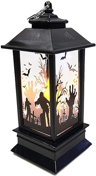 Ladiy Halloween Simulation Flame Light Portable LED Night Light Lighthouse Decorative Props Night Lights