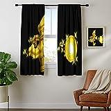 Paneles de cortina con aislamiento para barra de ventana, Super Mario Bros Cortinas opacas para dormitorio, tela duradera de 55 x 45 cm, lavable a máquina