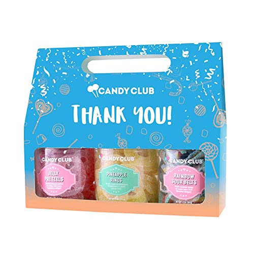 Candy Club, Thank You! Candies Gift Pack, 3 Jars Set - Raspberry...