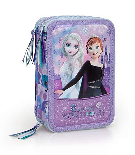 Frozen 56524 Astuccio Triplo Riempito, 44 Accessori Scuola, 20 Centimetri