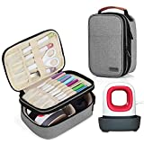 Luxja Double-Layer Carrying Case Compatible with Cricut Easy Press Mini, Tote Bag Compatible with Cricut Easy Press Mini and Supplies (Bag Only), Gray bag organizers May, 2021
