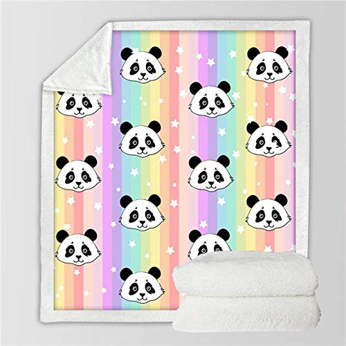 Danigrefinb Cartoon Elephant Panda Warm Soft Flannel Carpet Cat Dog Puppy Pet Blanket Quilt