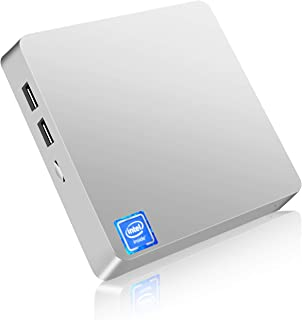 Mini PC,T11 Windows 10 Pro(64-bit) Intel x5-Z8350 Fanless Mini Computer with HDMI/VGA Port,4K HD,4GB/64GB eMMC,2.4/5G WiFi,Gigabit Ethernet,Support 2.5-Inch SATA SSD/HDD,Auto Power On