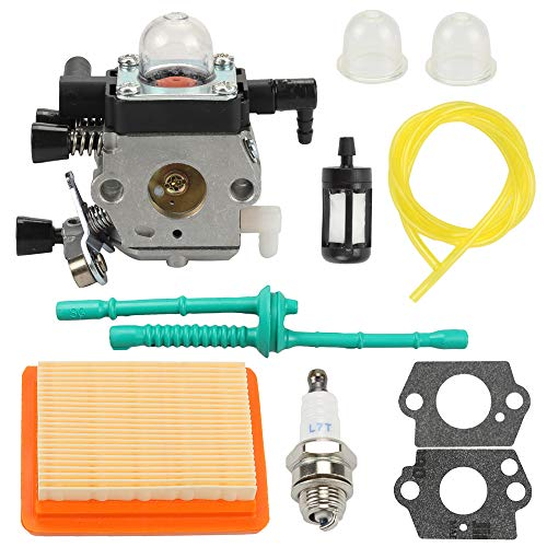Hayskill Carburetor Carb with Air Filter Fuel Line Tune Up Kit for Sthil MM55 MM55C Zama C1QS202A Carb Replaces 46011200600