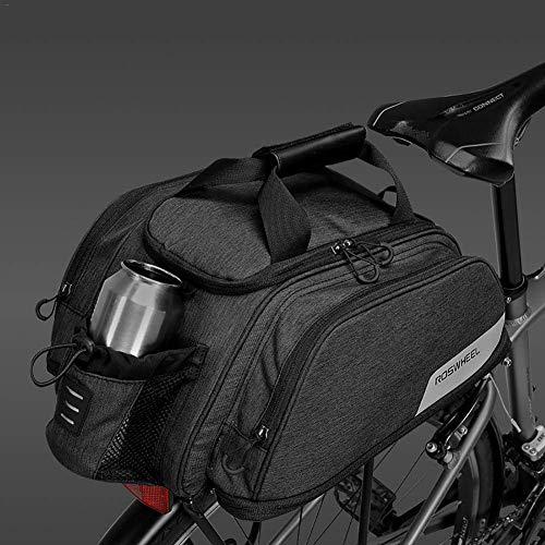 ZHTY Bike Rack Bag, 11 L, Bicycle Bike Cycling Outdoor Sport Waterproof Rear Seat Bag Pannier Trunk Bag Bicycle Accessories Shoulder Handbag Bag Pannier with Water Bottle Packet