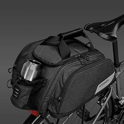 ZHTY Bike Rack Bag, 11 L, Bicycle Bike Cycling Outdoor Sport Waterproof Rear Seat Bag Pannier Trunk Bag Bicycle Accessories Shoulder Handbag Bag Pannier with Water Bottle Packet