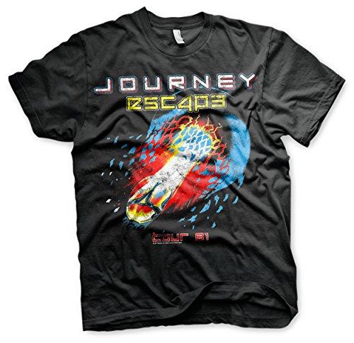Journey Oficialmente Licenciado Escape Tour -81 Camiseta para Hombre (Negro), Large