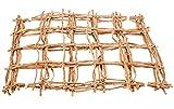 NaDeco Kokosnetz Natur 50x40cm 5 Stück Rankgitter Palmennetz Kokosgitter Netz aus Kokosrinde Mammutgeflecht Kletternetz