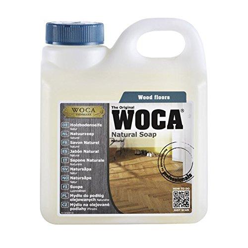 Woca Natürliche Seife 1L für Reinigung und Wartung des Flur aus Holz geölt