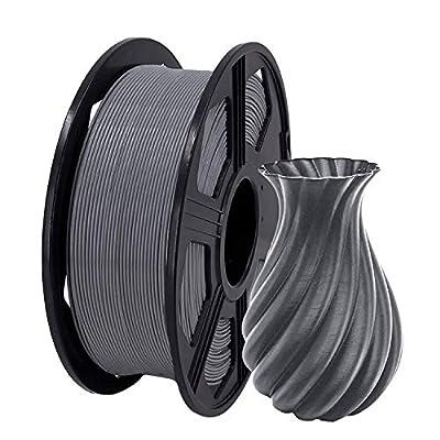 YOYI 3D Printer Filament, PLA Filament 1.75mm 2.2 lbs Spool (1kg), Dimensional Accuracy +/- 0.02 mm, 100% Europe Raw Material (grey)