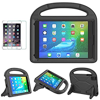 iPad Mini 1/2/3/4/5 Case for Kids SUPLIK Durable Shockproof Protective Handle Bumper Stand Cover with Screen Protector for Apple 7.9 inch iPad Mini 5th  2019 ,4th,3rd,2nd,1st Generation Black