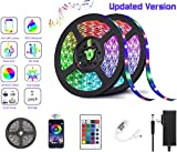 LED Lights for Bedroom 20 FT/6M RGB LED Strip Lights Music Sync Color Changing Rope Lights App Bluetooth Remote Control for Smart Home TV Wall Mirror Kitchen Bedroom Holiday Gifts