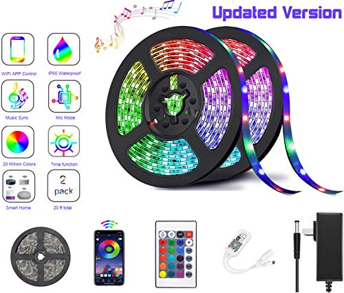 LED Strip Lights with Remote Control Color Changing LED Light Strip,WiFi Music...