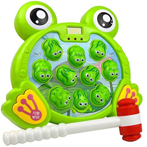 Bascar Interaktiver Schlag Kinder Frosch Form Klopf Hämmerspielzeug Whack Mole Ball Spiel Schnelle Reflexe Spiel mit Fröschen Lernen Aktives Frühes Entwicklungs Spielzeug