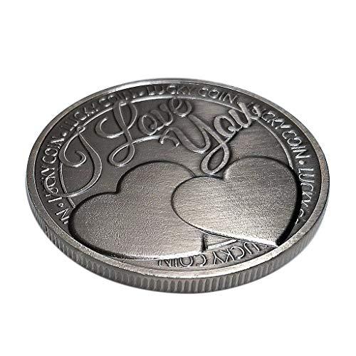 Baoblaze ICH Liebe Dich Poker Coin Gedenkmünze Glück Metall Souvenir Kunst