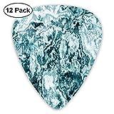 Mármol Textura de roca abstracta Salpicaduras retro estilizadas modernas Diseño oscuro antiguo Verde jade Verde azulado Blanco (paquete de 12)