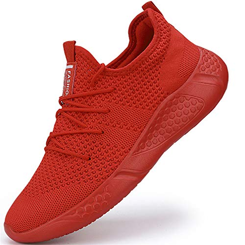 Donna Scarpe da Ginnastica Running Casual Sneakers Sportive Camminata Trekking Tennis Jogging Palestra Mesh Sport Outdoor Fitness Platform Basket Rosso 40 EU
