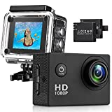 Action Kamera 4K 12MP Sports Cam HTD08 - Ultra Full HD Action Camera 140 ° Weitwinkel 30 Meter...