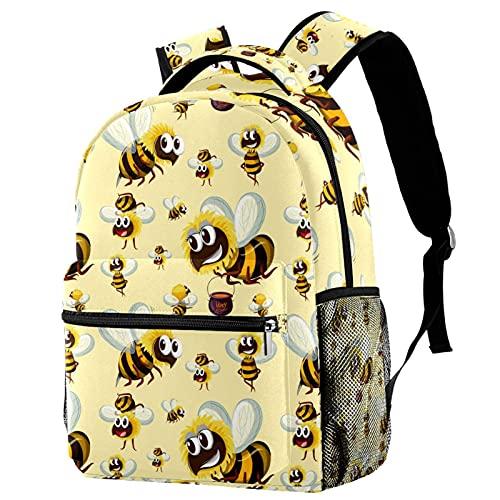 Schulrucksack Mädchen Teenager Süße Kinderrucksack Laptop Rucksäcke Süße Hummel Leichte Reiserucksack für Jungen Mädchen