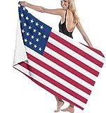 Strandtücher,Amerikanische Usa-Flagge Tragbar Sand Proof Ultra Leicht Und Schnelltrocknend Perfekt Als Strandtuch,Reisetuch,Saunatuch,Badetuch,Picknick 130×80cm
