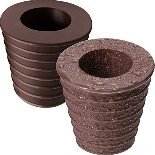 Umbrella Cone Wedge Fits Umbrella Pole Diameter 1.5 Inch/ 38 mm, for Patio Table Hole Opening or Parasol Base Stand 1.94 to 2.7 Inch (2, Dark Brown)