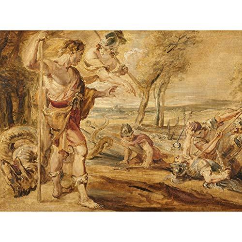 Peter Paul Rubens Cadmus Zaaien Draken Tanden Omlijst Muur Kunst Print 18X24 In