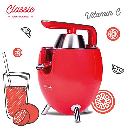 NEW CHEF - Exprimidor Zumo Eléctrico Juicer Classic Rojo pa