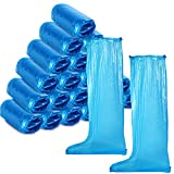 Disposable Boots Covers Plastic Long Shoes Covers Waterproof Over The Knee Shoes Boots Covers Anti-Slip Rain Overshoe for Men Women Rainy Day Outdoor (20 Pieces/ 10 Pairs)