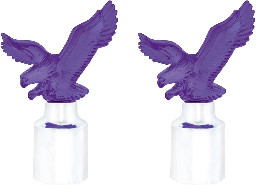 United Pacific 86089 Dedication Time sale Chrome Top Base Eagle W 2 - Pack Purple