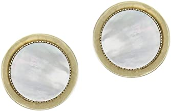 product image for Marjorie Baer Mother of Pearl and Disc Button Clip on Earring