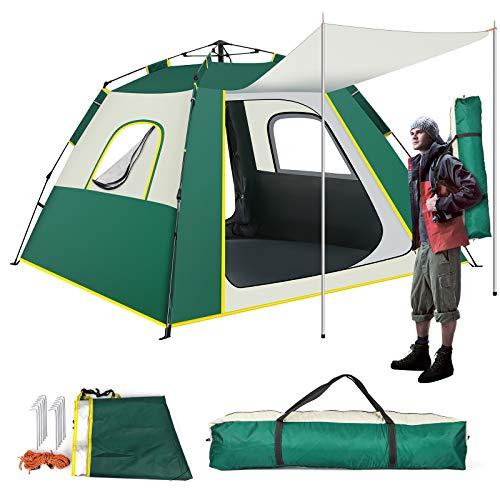 KOOLSENワンタッチテント キャンプ テント テント 2人用 3人用アウトドア設営簡単 UVカット 防水 コンパクト軽量 コンパクト 人気 テント ファミリー 公園 登山 防災 キャンプ用品 前室付きテント