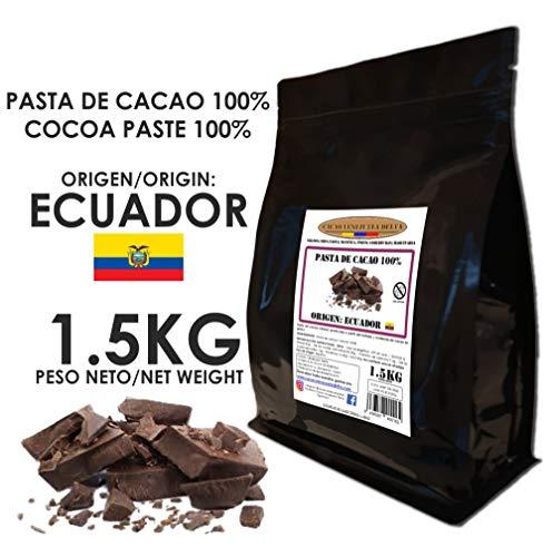 Cacao Venezuela Delta - Cioccolato Fondente Puro al 100% · Origine ECUADOR (Pasta, Massa, Liquore di Cacao al 100%) · 1,50kg