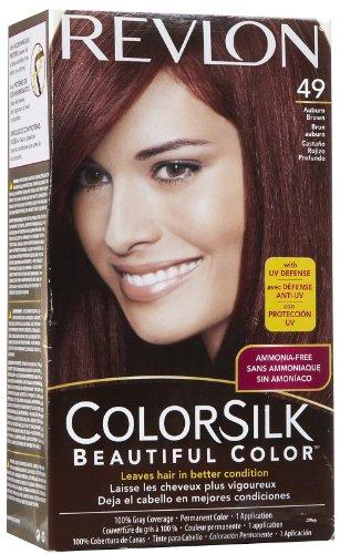 Revlon ColorSilk Hair Color 49 Auburn Brown 1 Each ( Pack of 12)
