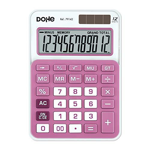 Delege rekenmachine, middelgroot, roze