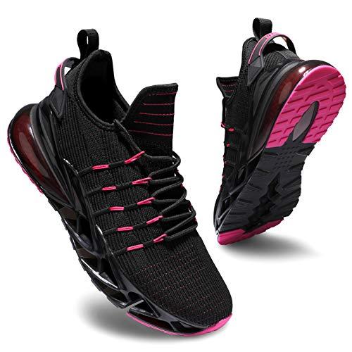 Deevike Laufschuhe Damen Sneaker Wanderschuhe Sportschuhe Turnschuhe Joggingschuhe Schuhe Damen Schwarz Rosa-36
