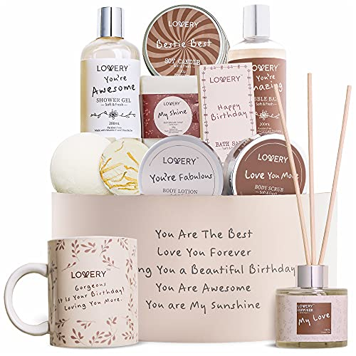 Birthday Gift Basket, Bath and Spa Gift Set for Women, Luxury Birthday...