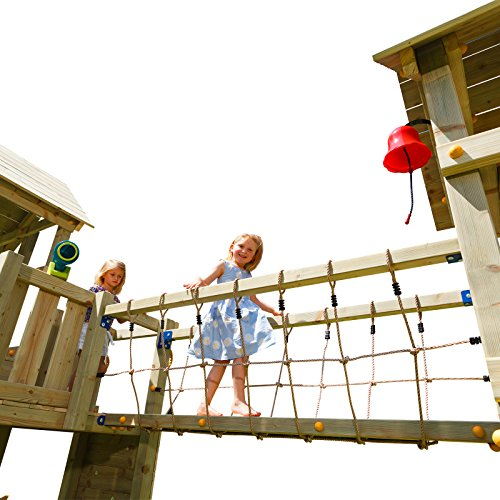 Demmelhuber Blue Rabbit 2.0 Anbaumodul Hängebrücke @Bridge Spielturm Verbindung zwischen Zwei Spieltürmen Kletterturm Anbau