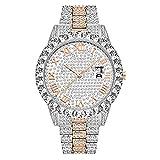 Big Circle Diamond Watch Orologio da polso di alta gamma con calendario alla moda per uomo e donna