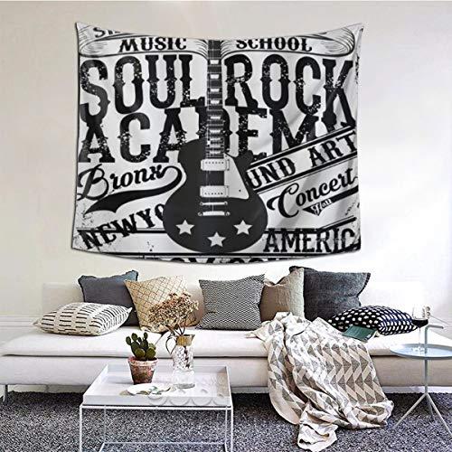 LASINSU Tapiz de Regalo,Póster Retro Soul Rock Academy Theme Music School Guitarra...