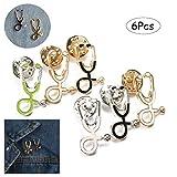Comidox 6pcs Creative Personality Doctor Nurse Stethoscope Enamel Lapel Pin Cute Schoolbag Micro Cap Top Lapel Badge