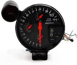 2019 New Glow Cool 5Inch 4 in 1 RPM Tachometer Water Temperature Oil Temperature Oil Pressure Gauge 5.20 A