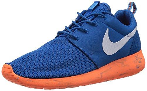 Nike Men's Roshe Run Military Blue/Vivid Blue/Total Orange/White 12 D - Medium
