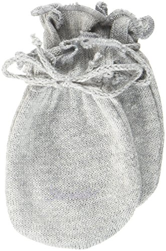 Sterntaler Moufles Anti-Griffures pour Bébé en Jersey, Âge: 0-6 Mois, Taille: 0, Gris argenté