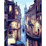Diy pintura al óleo flores rojas ventana imagen sala lienzo pared pintura al óleo decoración del hogar 40x50 cm