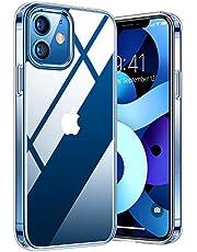 TORRAS Diamond Series Hülle Kompatibel mit iPhone 12 und 12 Pro Vergilbungsfrei Transparent Starke Stoßfestigkeit Unzerstörbare Schutzhülle Dünn Kratzfest Transparent