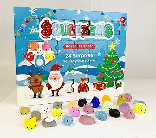 Cosy Christmas Squeezems Adventskalender – 24 Surpise Squishy Figuren