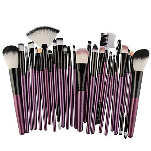 Poignée En Bois Pinceau De Maquillage 25 Pcs Set Maquilleur Débutant Outils Professionnels Beauté Pour Studio Photographie,7