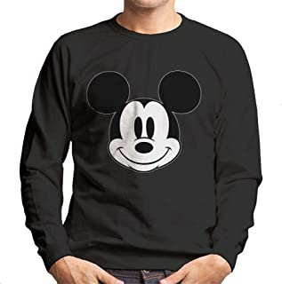Disney Mickey Mouse Cute Smile Black and White Men's Sweatshirt